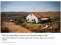 norway-expresses-concern-over-israeli-outpost-bill-times-of-israel