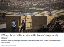 un-says-israeli-bill-to-legalize-settler-homes-unequivocally-illegal-times-of-israel